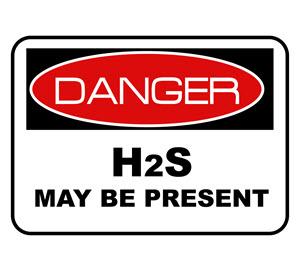 Danger H2S sign